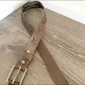 abercrombie Kids Criss Cross Leather Belt Size S/M